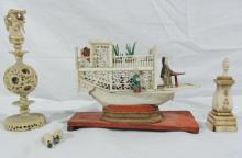 China Trade Ivory & Bone Items from Obed Baxter