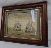 Nautical Water Color Attr. John Fisher