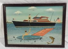 Ralph Cahoon Sailfish Yacht Painting