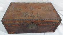 Leather Dowry Box & Daguerreotypes H Coffin