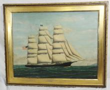 Benjamin Russell Painting of Ship