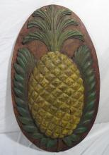 Antique Carved Pineapple Hospitality Sign