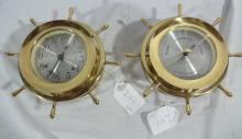 Pair Seth Thomas Nautical Wheel Insruments