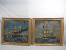Whaling Scene Baltimore Screen Paintings