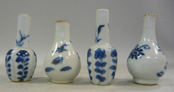 Two pairs of early 18thC Chinese porcelain
