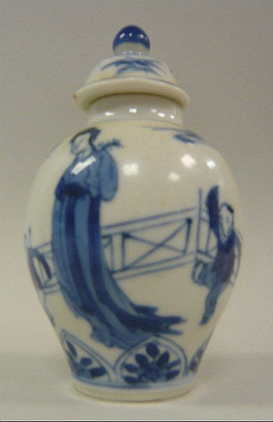 A Chinese Kangxi porcelain miniature vase and