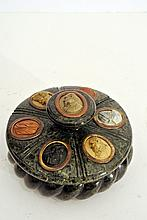An important green serpentine marble inkwell attributed to Benedetto Boschetti (Florence 19th century)