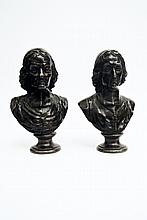 A very fine pair of Bronze sculptures, French School 18th century