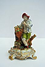 A lovely polychrome porcelain Capodimonte sculpture