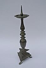 A Bronze Candlestick