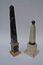 A pair of decorative Obelisks