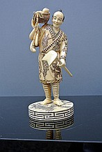 An ivory carved sculpture