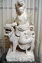 A Guanyin sculpture