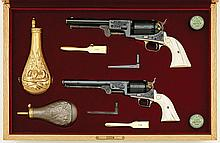 Phenomenal Pair Of Leonard Francolini Factory-Engraved Colt Second-Generation Percussion Revolvers With Matching Serial Numbers