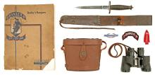 Extremely Rare Original Case V-42 WWII Commando Stiletto With Grouping Belonging To Lt. Col. Peronneau Mitchell 3Rd Ranger Bn. FSSS