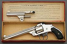 Rare Smith & Wesson 38 Fourth Model Safety Hammerless Factory Two-Barrel Set Revolver