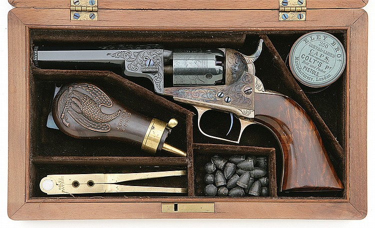 Cased and Engraved Klay Colt Baby Dragoon Revolver