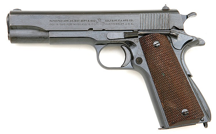 U.S. model 1911 transitional model semi-auto pistol by Colt