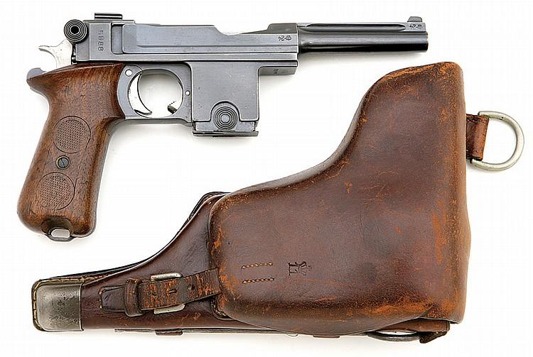 Danish model 1910/21 Bergmann Bayard semi-auto pistol