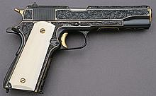 Custom Gold Inlaid Engraved Colt Model 1911A1
