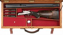 Spectacular Ernest Dumoulin Pionnier Model Sideplated Boxlock Double Rifle
