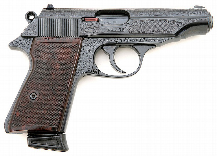 Walther PP engraved semi-auto pistol