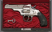 Factory Engraved and Cased Merwin Hulbert & Co. Small Frame Revolver