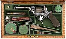 Fine Cased British Tranter Percussion Revolver