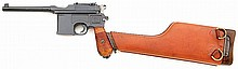Mauser model 1896 broomhandle 1930 commercial semi-auto pistol