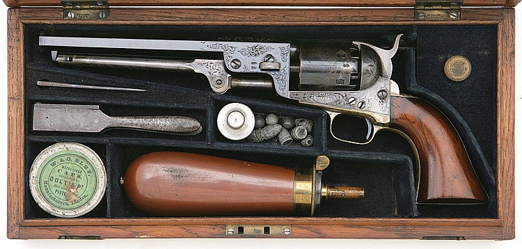 Superb Factory Cased and Engraved Colt 1851 London Navy revolver