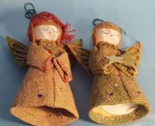 (2) Vintage Angel Christmas Decorations one is 6 7/8