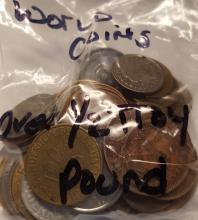 Bag of Mixed Old World Coins = Over 1/2 Troy Pound