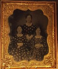 Antique Tin Type Photograph with Tinted Cheeks
