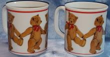 (5)  1970's Curzon Teddy Bear Mugs