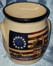 Vintage Americana themed Crazy Mountain Tart Warmer /Tealight Holder