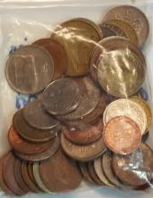Bag of Foreign World Coins = Over 1/2 Troy Pound