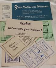 Vintage Blotter Cards - Qty of 6
