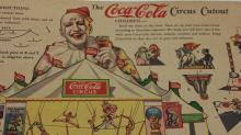 1932 The Coca Cola Circus Cutout Litho