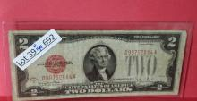 1928-G $2.00 Red Seal Bank Note