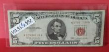 1963 $5.00 Red Seal U.S. Bank Note