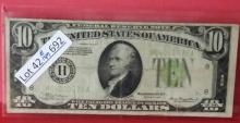 1934 $10.00 Federal Reserve Bank Note