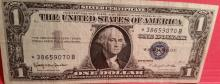 1957-B Silver Certificate Blue Seal Star Note