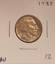 1937 Buffalo Nickel About Uncirculated