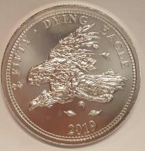 Zombucks One Ounce .999 Fine Silver - Fift Dying Eagle