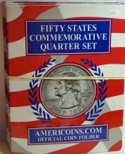 5 Pack of NEW State Quarter Folders