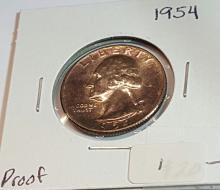 1954 Washington Head Quarter = Proof Coin