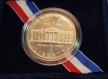 1992 White House 200th Anniversary $1.00 Coin in Box with Certificate (UNC)