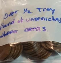 Unsearched Bag of Old Lincoln Wheat Cents = Over 1/2 Troy Pound