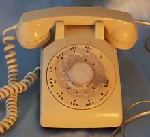 Vintage 1980's Cream/Light Beige Northern Telecom Rotary Dial Phone with
