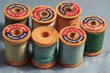 (7) Vintage Sewing Thread and Spool